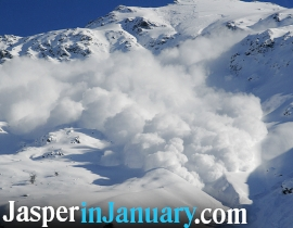 JASPER AVALANCHE AWARENESS - Jasper in January 2021