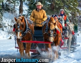 Pyramid Lake Sleigh Rides - Jasper in January 2021